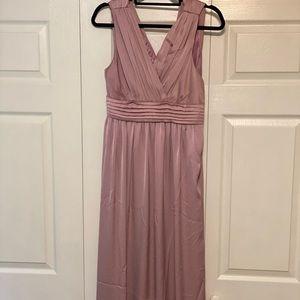 Geode Empire waist full-length dress